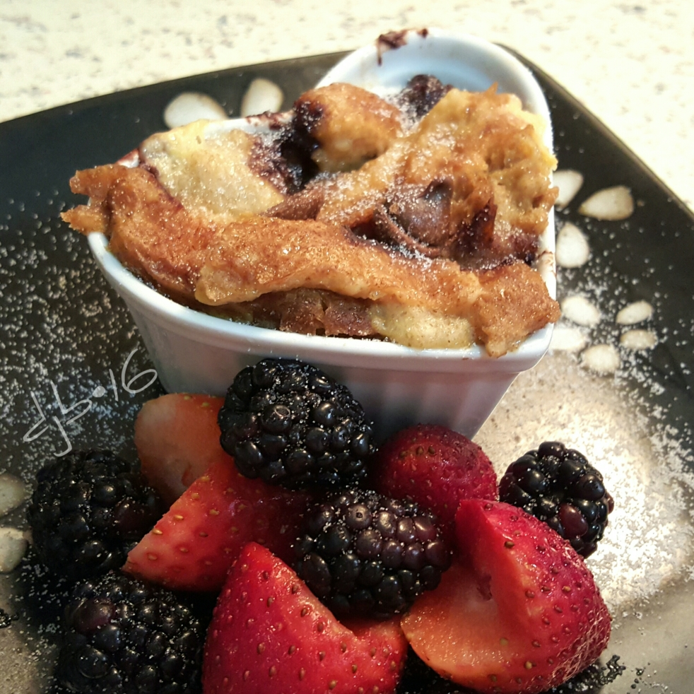 Foodies: Easy Chocolate Chips Bread Pudding that everyone will enjoy! DeeCluelessLady.com